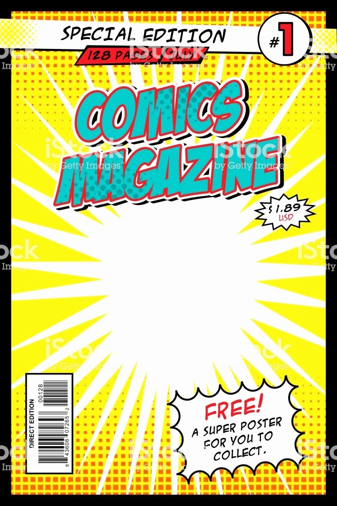 Comic Book Cover Template Unique Ic Book Cover Template Vector Illustration Ic