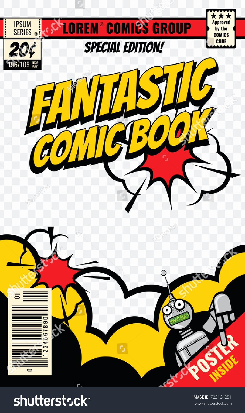 Comic Book Cover Template Unique Ic Book Cover Vector Template Ic Stock Vector