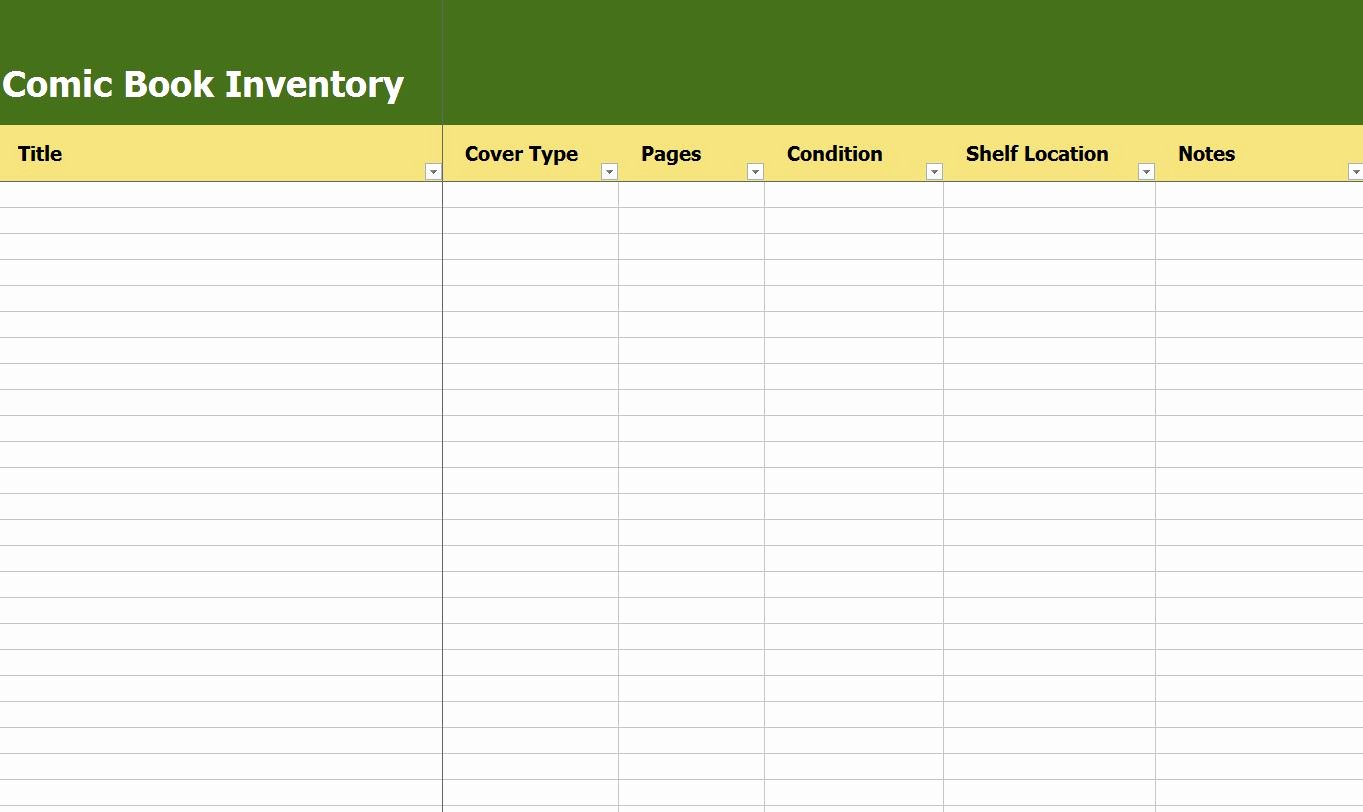 Comic Book Inventory Template Lovely Index Of Wp Content 2014 02