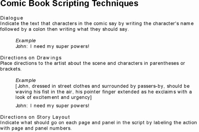 Comic Book Script Template Awesome Download Script Writing Templates for Free Tidytemplates