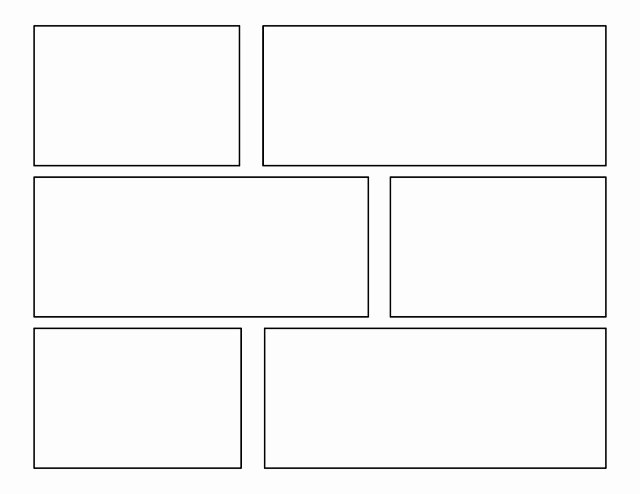 Comic Book Strips Template Awesome 3rd Grade First Batch Of Ic Templates