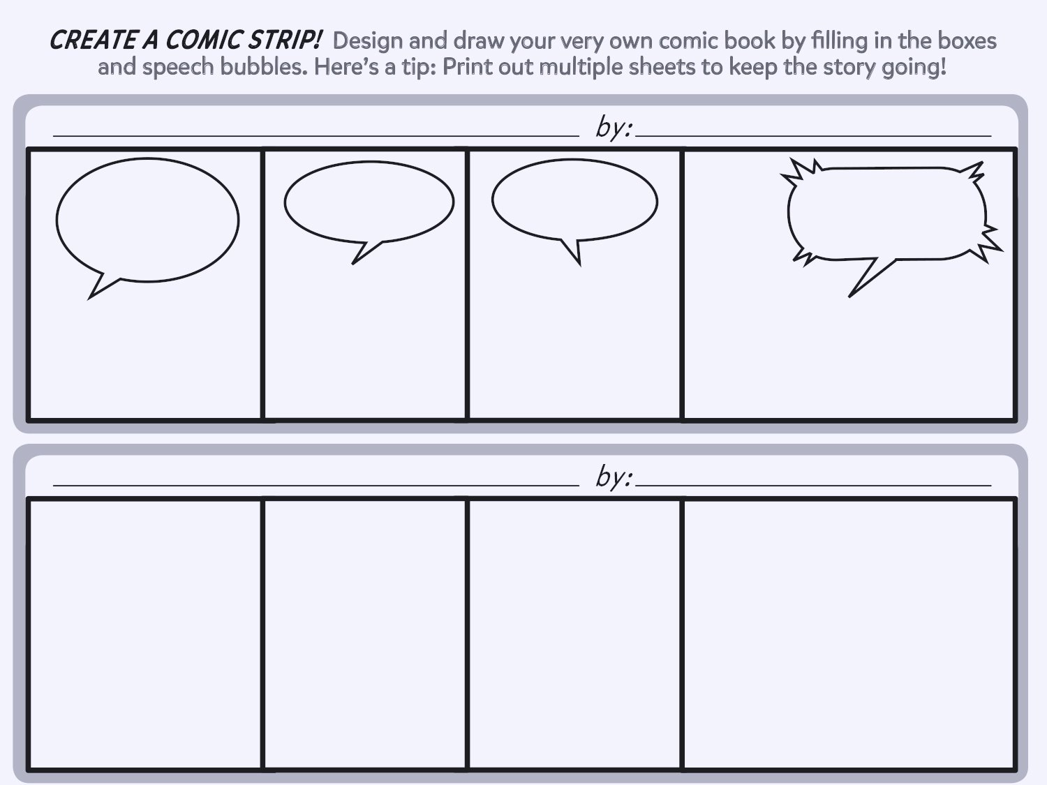 Comic Book Strips Template Awesome Create A Ic Strip Printable Template