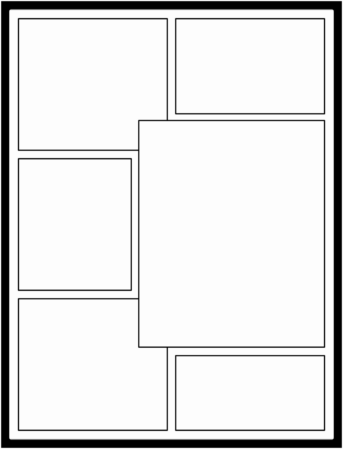 Comic Book Template Pdf Best Of 9 Printable Blank Ic Strip Template for Kids Iowui