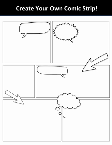 Comic Book Template Pdf Luxury Blank Create Your Own Ic Strip Template by