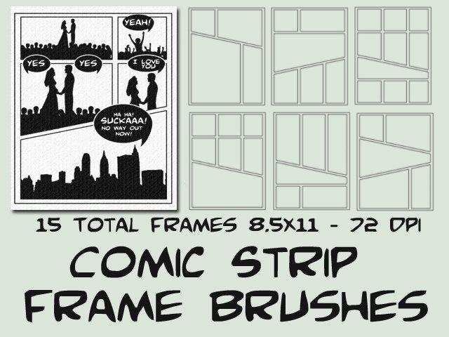 Comic Book Template Photoshop Beautiful Ic Strip Starter Frames Frame Shop Brushes