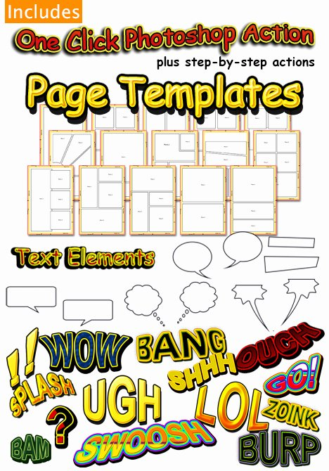 post ic book template psd