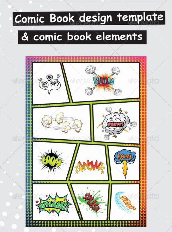 Comic Book Template Photoshop Inspirational 15 Ic Book Templates Psd Vector Eps