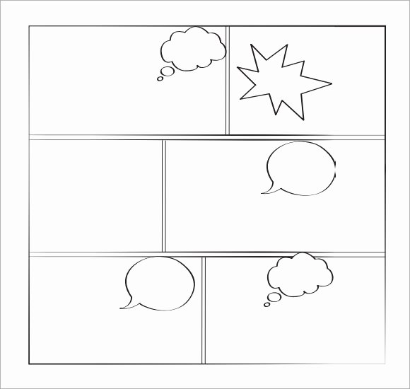Comic Strip Template Pdf Awesome 11 Ic Templates for Free Download