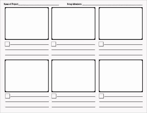 Comic Strip Template Pdf Awesome 7 Ic Storyboard Templates Doc Excel Pdf Ppt