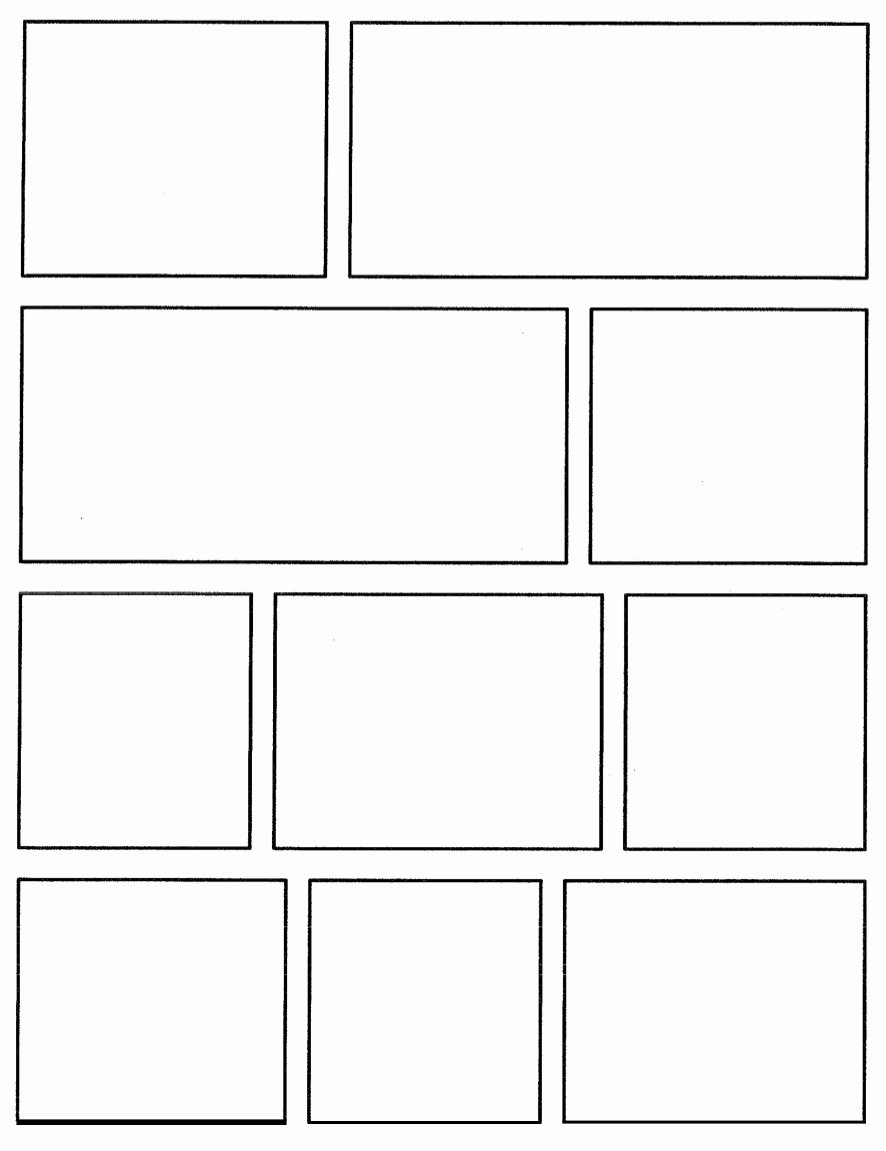 Comic Strip Template Pdf Awesome Free Printable Ic Strip Template