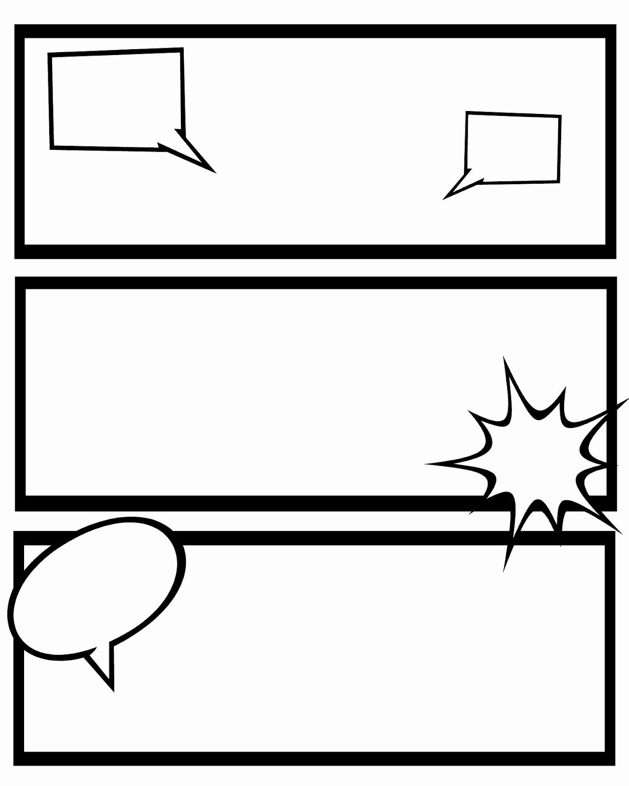 Comic Strip Template Pdf Awesome Printable Ic Strips for Narration Sweet Hot Mess