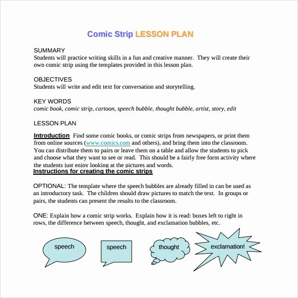 Comic Strip Template Pdf Best Of Ic Strip Template 6 Download Free Documents In Pdf