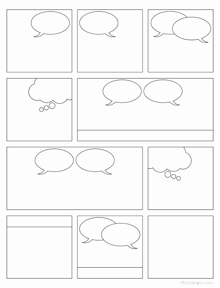 Comic Strip Template Pdf Fresh 9 Printable Blank Ic Strip Template for Kids Iowui