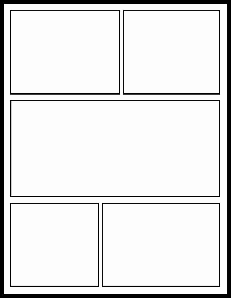 Comic Strip Template Pdf New 7 Best Of Ic Strip Template Printable Ic