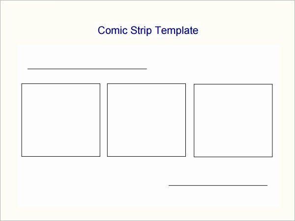 Comic Strip Template Pdf Unique Ic Strip Template 7 Free Pdf Download