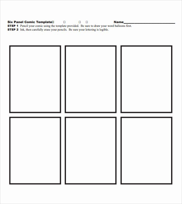 Comic Strip Template Word Awesome 11 Ic Templates for Free Download