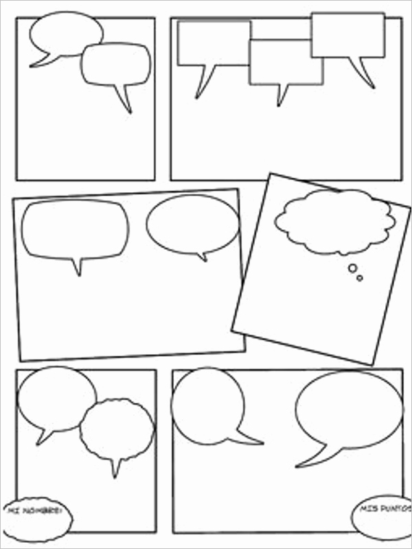 Comic Strip Template Word Awesome 16 Ic Strip Template Free Word Pdf Doc formats