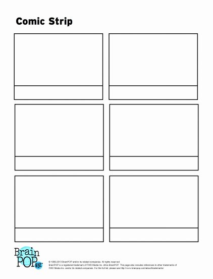 Comic Strip Template Word Awesome Ic Strip Activity