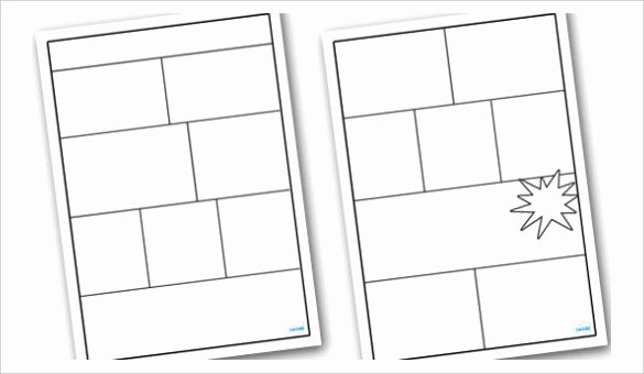 Comic Strip Template Word Beautiful Blank Ic Strip Template Printable Templates Collections
