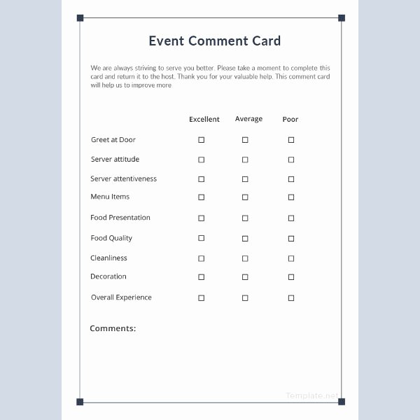 Comment Card Template Word Beautiful 7 event Ment Cards Psd Eps Vector Ai Publisher
