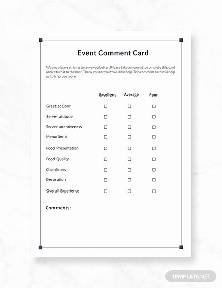 Comment Card Template Word Best Of Free Friends Ment Card Template Download 233 Cards In