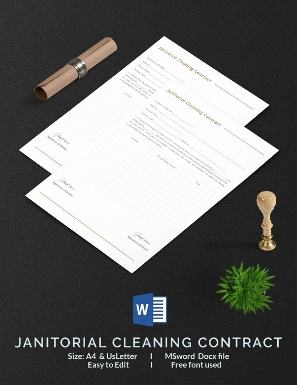Commercial Cleaning Contract Template New Cleaning Contract Template 27 Word Pdf Documents