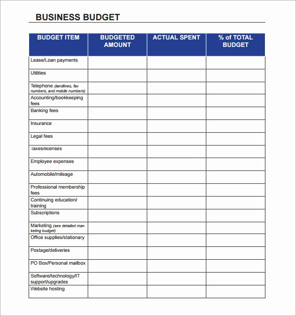 Commercial Construction Budget Template Best Of Business Bud Template 13 Download Free Documents In