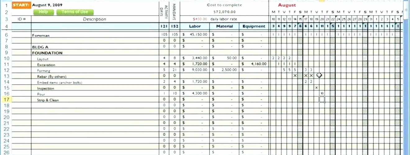 Commercial Construction Budget Template Unique Mercial Construction Bud Spreadsheet Mercial