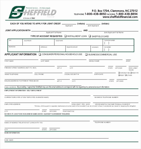 Commercial Credit Application Template Fresh Credit Application Template 33 Examples In Pdf Word