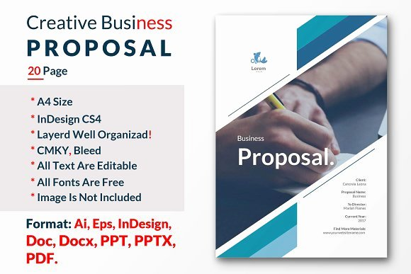 Commercial Insurance Proposal Template Awesome Creative Business Proposal Template Brochure Templates