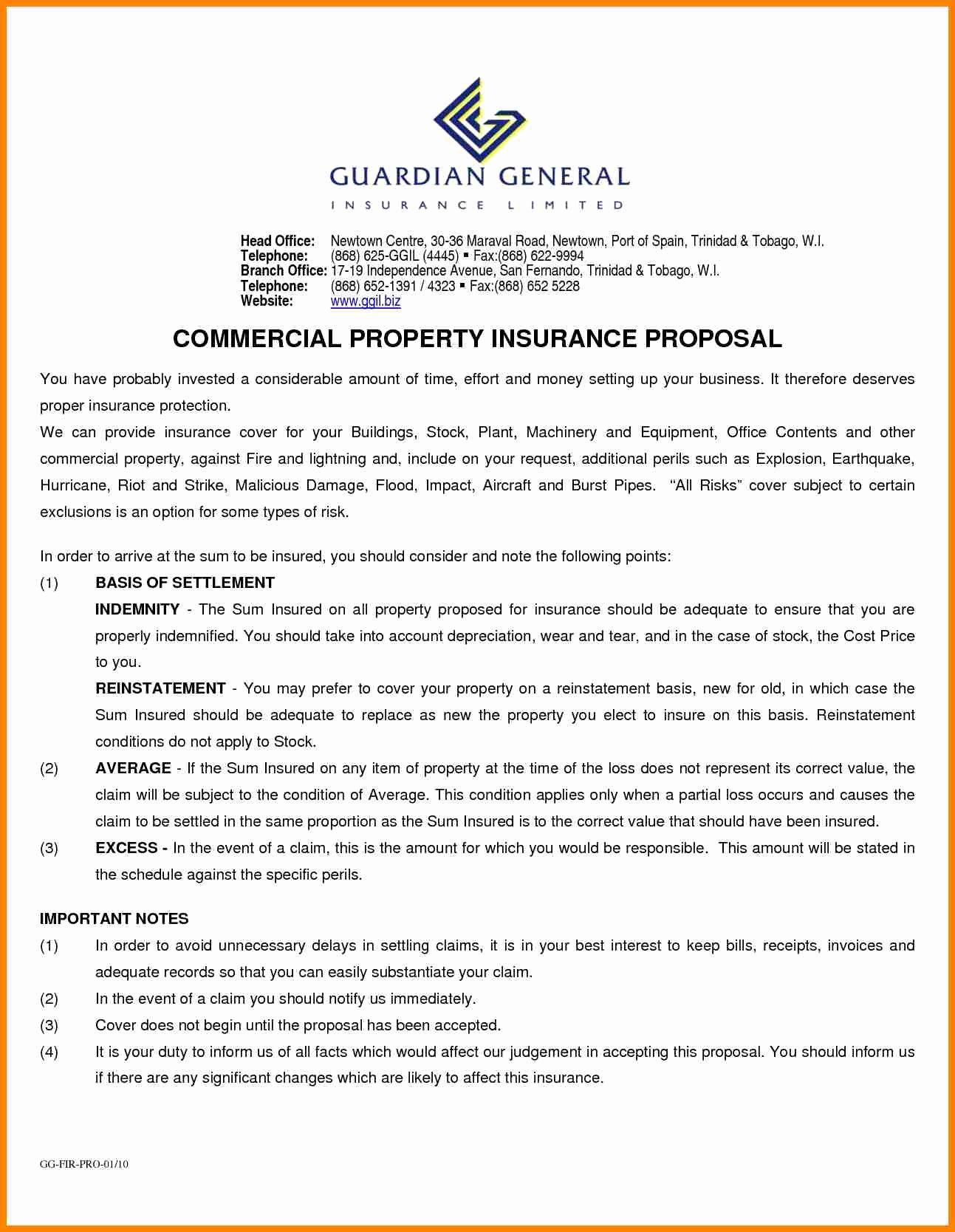 Commercial Insurance Proposal Template Best Of Mercial Proposal Template Portablegasgrillweber