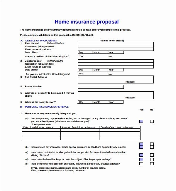 Commercial Insurance Proposal Template New 12 Insurance Proposal Templates