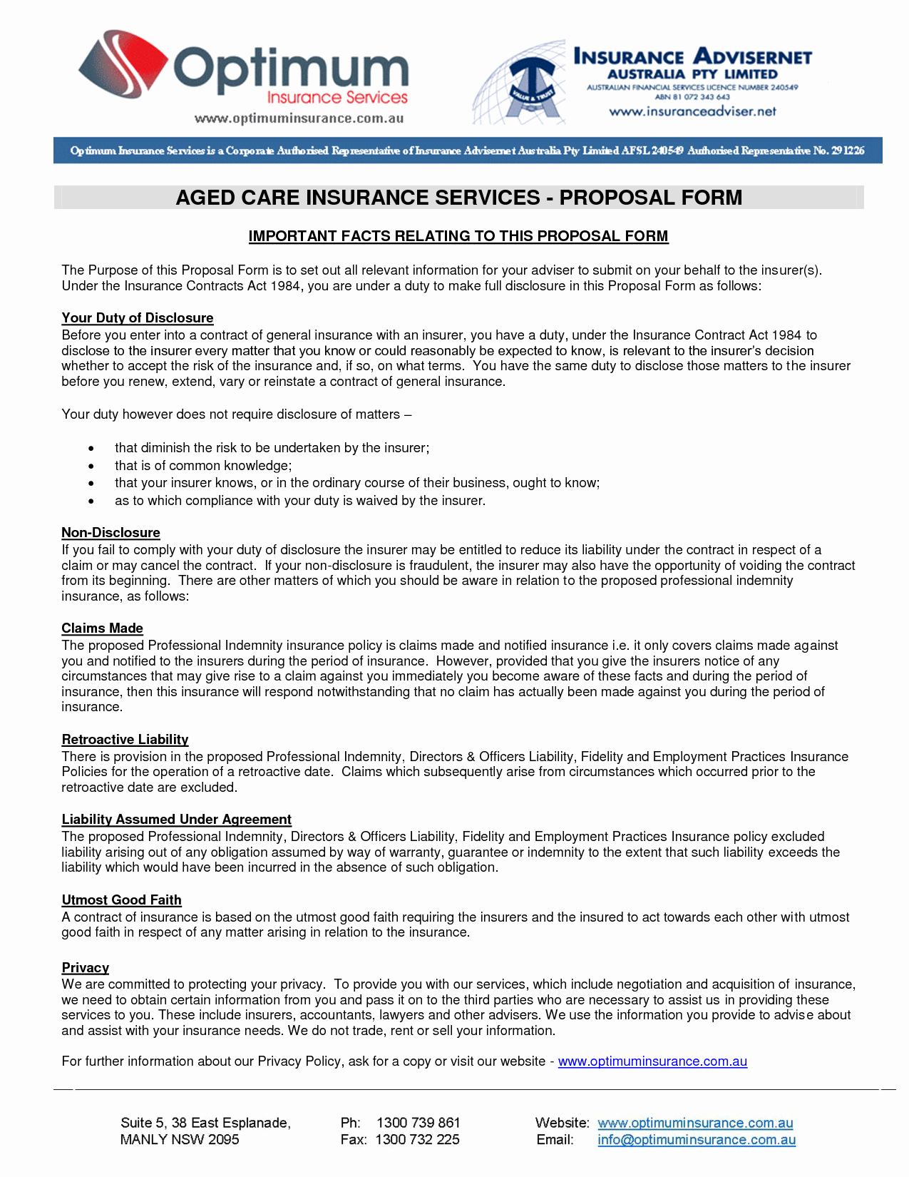 Commercial Insurance Proposal Template New 9 Best Of Insurance Business Proposal Sample