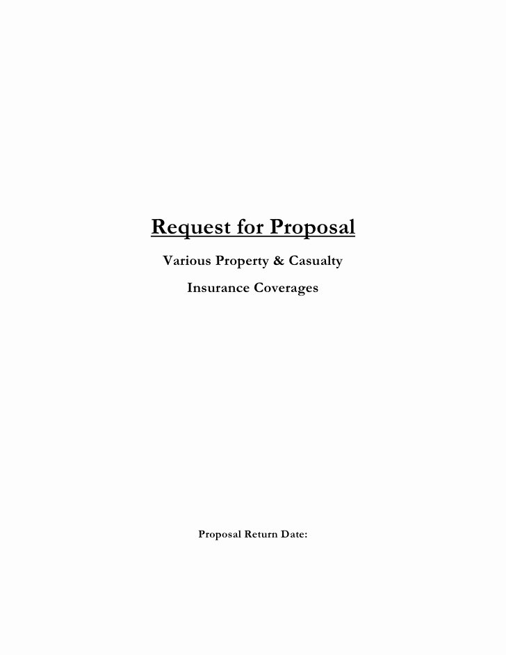 Commercial Insurance Proposal Template Unique Insurance Request for Proposal Template