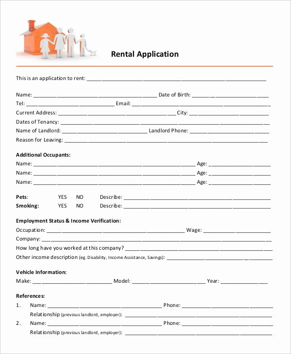 Commercial Lease Application Template Awesome 17 Printable Rental Application Templates