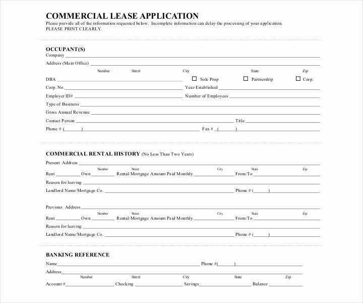 Commercial Lease Application Template Awesome 27 Lease Application forms In Pdf