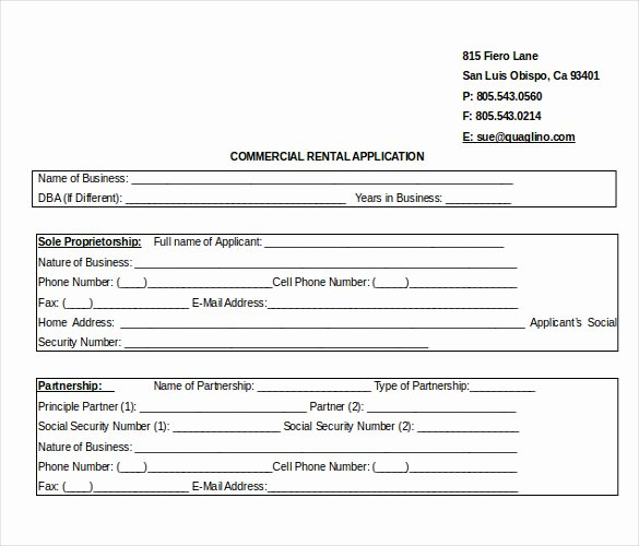 Commercial Lease Application Template Fresh 10 Word Rental Application Templates Free Download