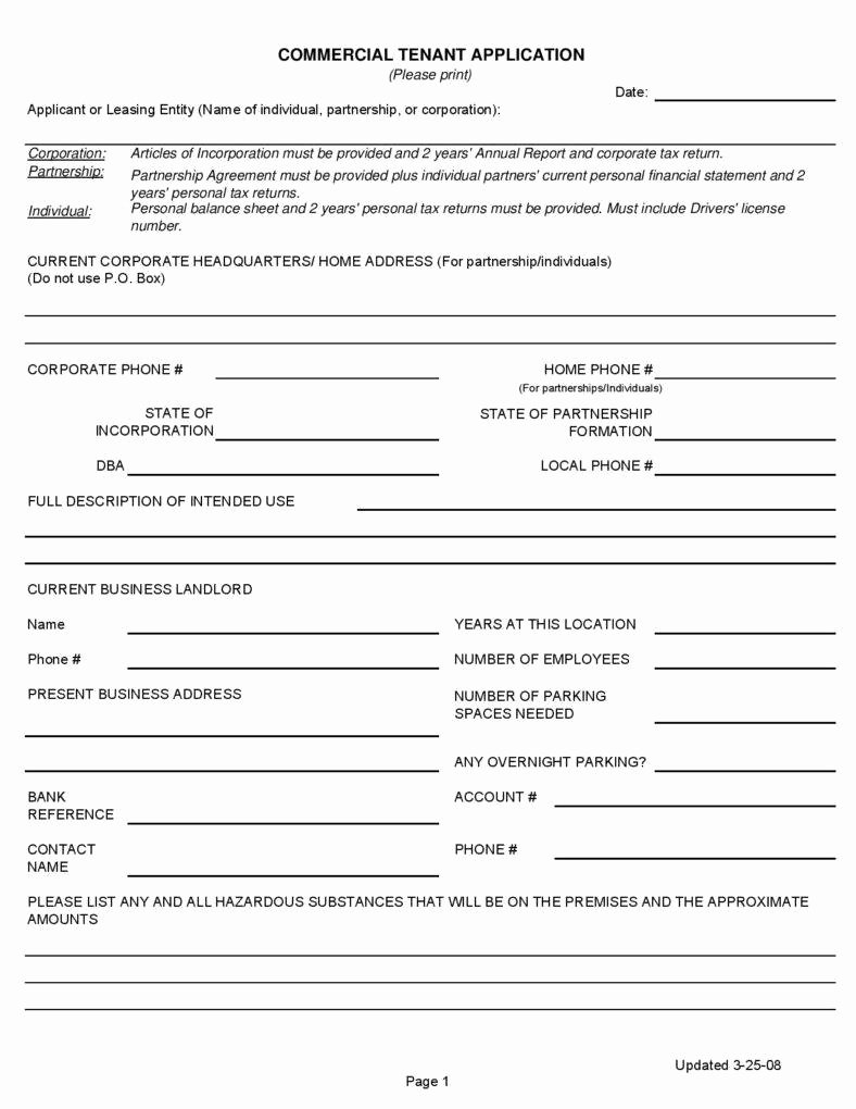 Commercial Lease Application Template Inspirational 25 Lease Application Templates Free Free Word Pdf