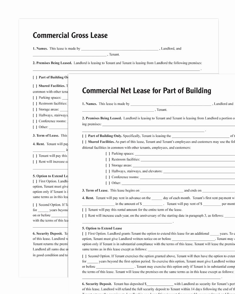 Commercial Lease Application Template New Mercial Lease forms Pack forms and Instructions