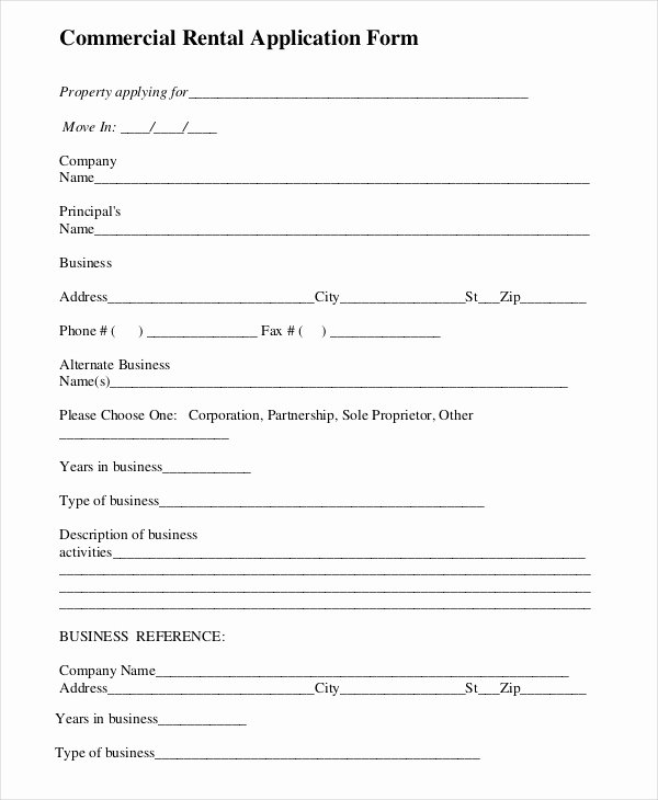 Commercial Lease Application Template Unique Rental Application Templates 10 Free Word Pdf