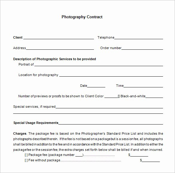 Commercial Photography Contract Template Beautiful 7 Mercial Graphy Contract Templates Free Word