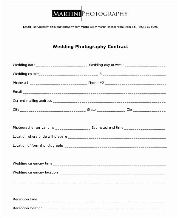 Commercial Photography Contract Template Luxury Graphy Contract Example 11 Free Word Pdf Documents