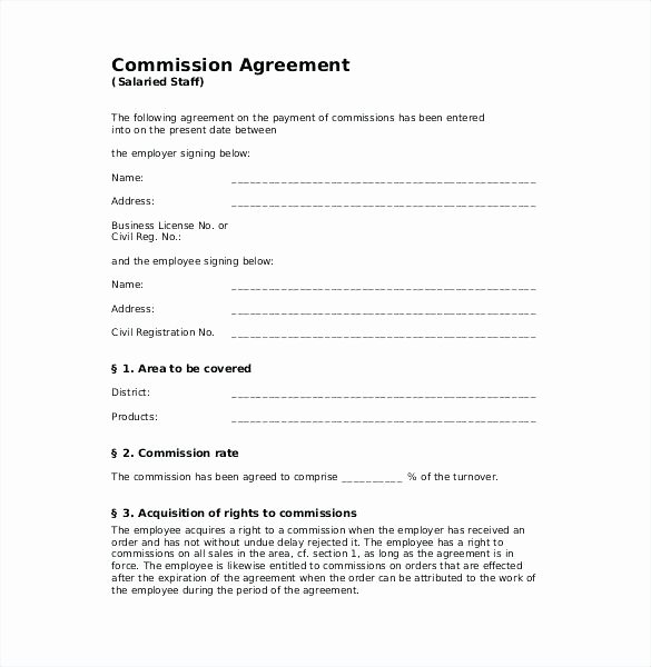 Commission Split Agreement Template Inspirational Mission Split Agreement Template Fresh Mission Split