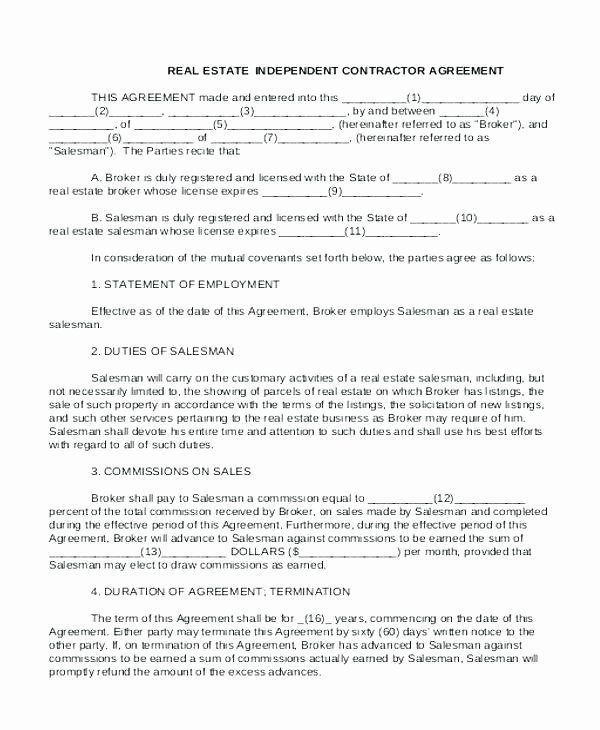 Commission Split Agreement Template New Mission Advance Agreement Template