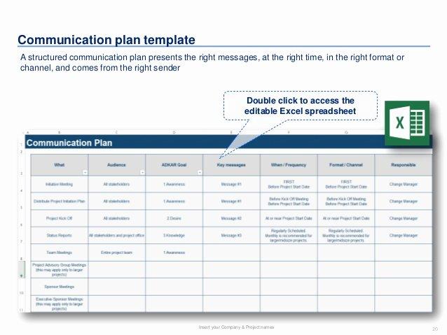 Communication Management Plan Template Elegant 26 Of Prosci Munication Plan Template