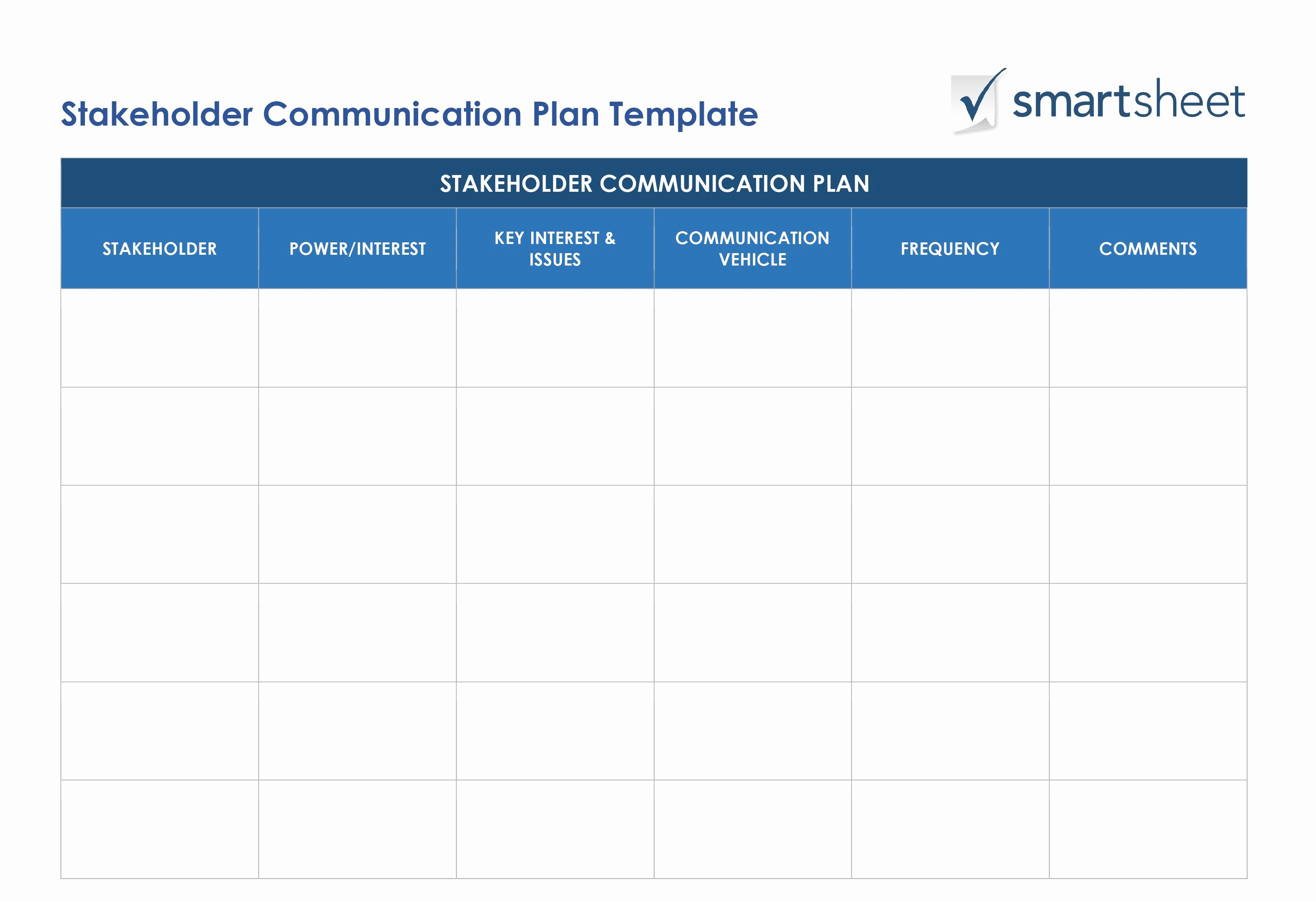Communication Management Plan Template Fresh Free Stakeholder Analysis Templates Smartsheet