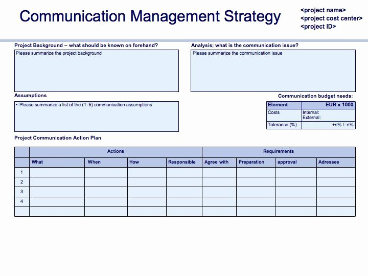 Communication Management Plan Template Fresh Prince2 In Practice Munication Plan Update