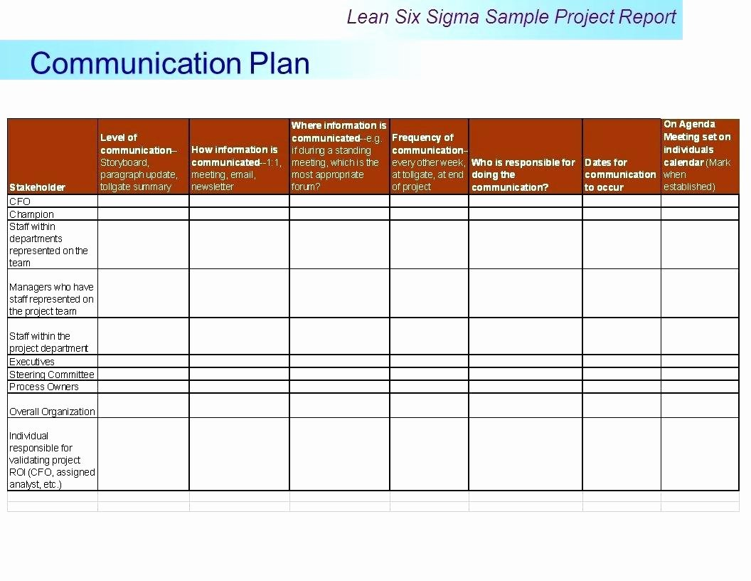 Communication Plan Template Excel Best Of Template Project Team Munication Plan Template