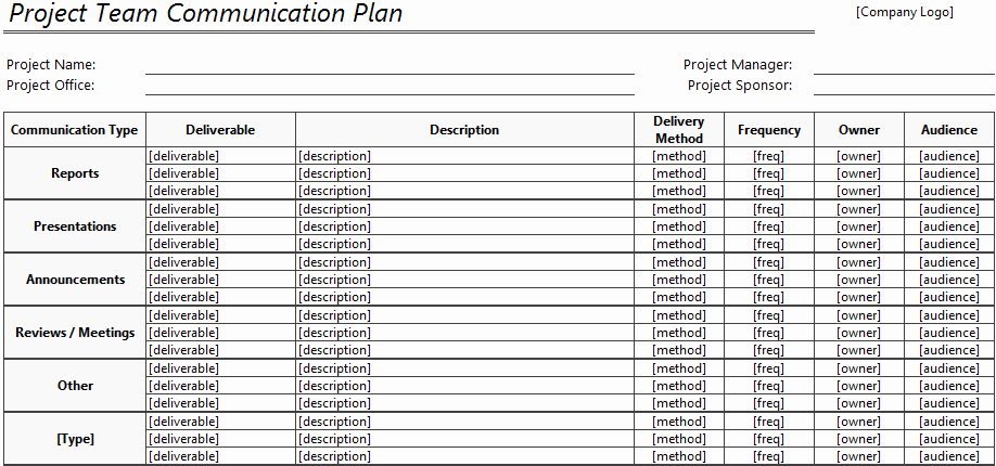 Communication Plan Template Excel Elegant Gantt Chart Summary Template for Excel