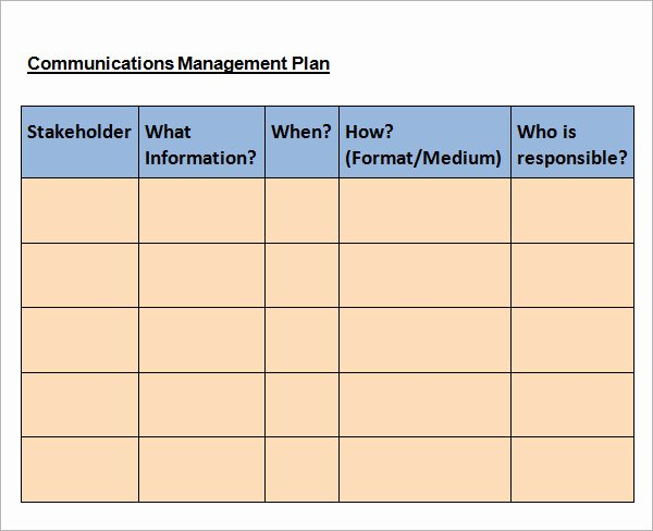Communications Plan Template Word Best Of 11 Samples Of Munication Plan Templates